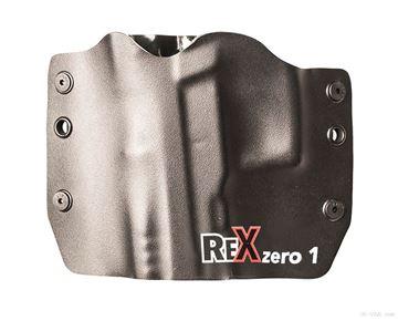 Rex Zero1S Holster (OWB, Black, Logo, Kydex, Left Hand)